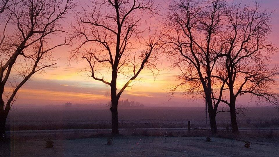 Sunrise in Lime Springs, Iowa / Dana Lund