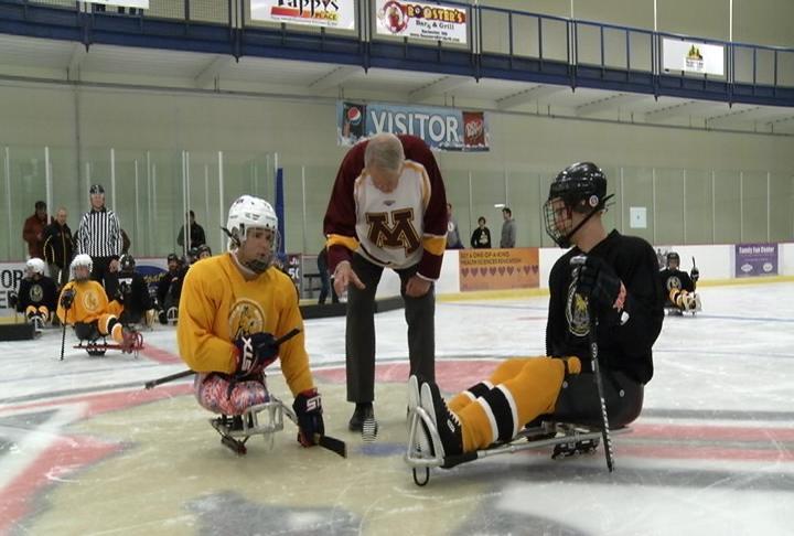 Mustangs sled hockey hosts celebrity game kwwl eastern for Champion motors waterloo iowa
