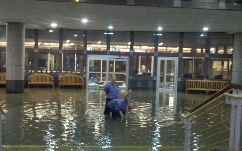 flash floodwaters make it inside mayo s charlton building
