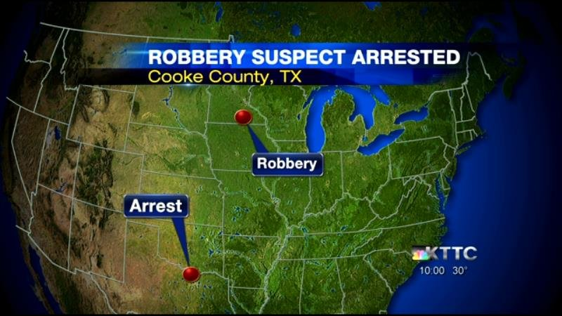 hope bank robbery suspect arrested in texas after police
