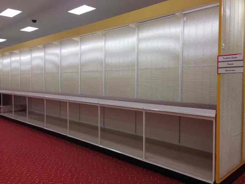 Bare shelves fill the Austin Target store on Friday. Austin Target store to close for good Saturday   KTTC Rochester
