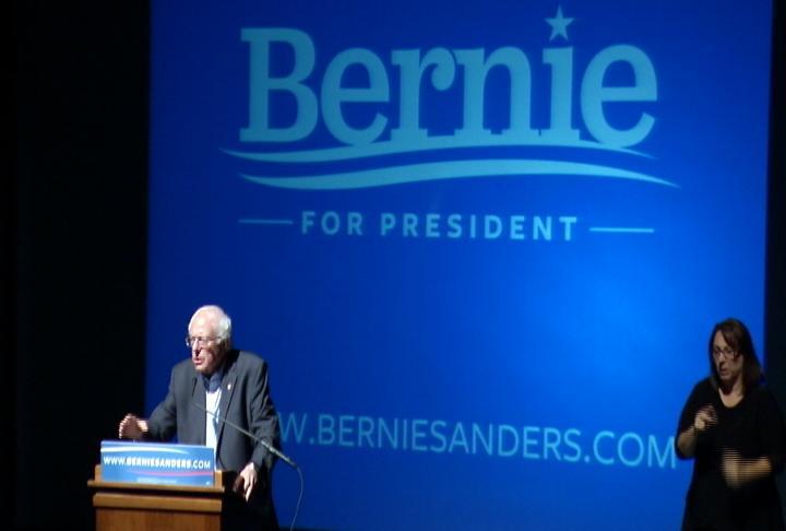Democratic Presidential Hopeful Bernie Sanders Visits