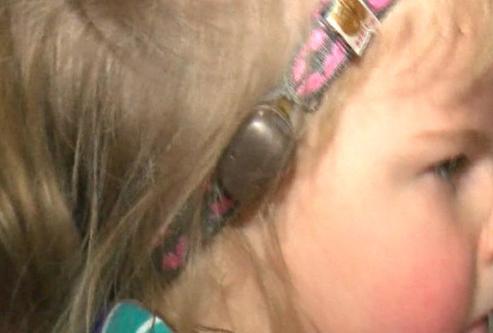 Mackenzie's hearing aid
