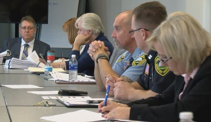 Officers, attorneys, and the Police Civil Service Commission met Friday morning.