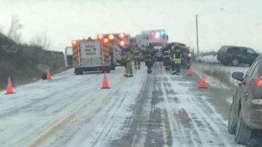Crash scene on W40 Monday morning (Photo by Veronica Juneau)