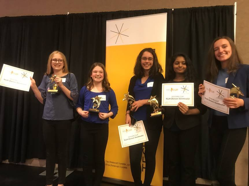 Left to Right: Bailey Klote, Audrey Whitney, Simran Sandhu, Anjali Donthi, and Alexandra Bancos