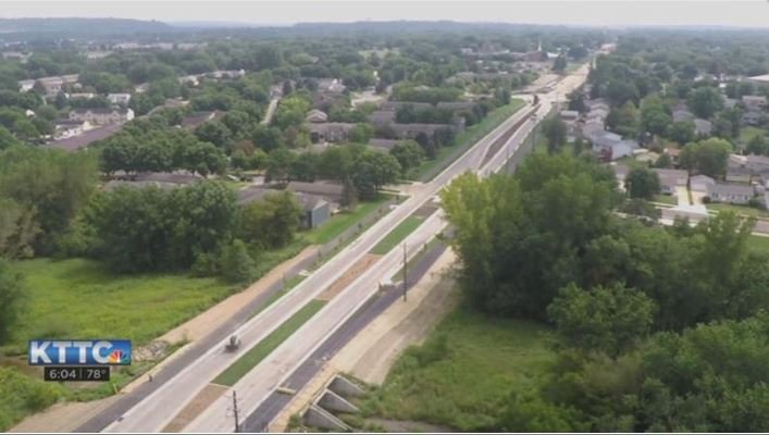 18th Avenue NW from KTTC DroneCam