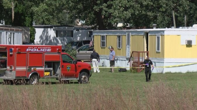 The victim, 38-year-old Brandon Arndt, lived in the yellow trailer at Bob's Trailer Court in SE Rochester.