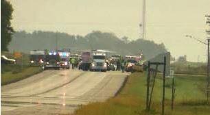 HIghway 14 Crash Scene on September 7